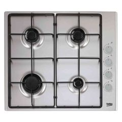 Beko CIHG21SX Stainless Gas Hob with Side Panel