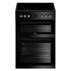 Beko EDC633K 60cm Electric Cooker with Double Oven