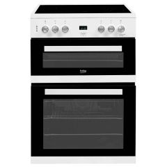 Beko EDC633W 60cm Electric Cooker with Double Oven
