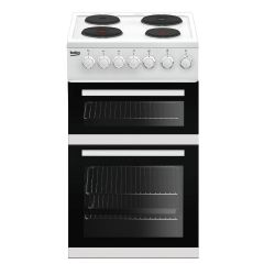 Beko EDP503W Slimline 50cm Electric Cooker with Double Oven