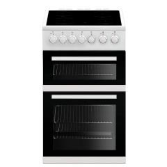 Beko EDVC503W Slimline 50cm Electric Cooker with Ceramic Hob + Double Oven