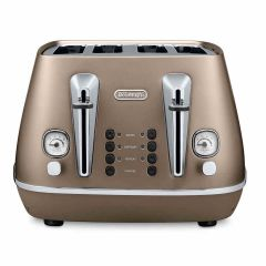 Delonghi CTI4003BZ Distinta 4 Slice 4 Slot Toaster with Bronze Finish