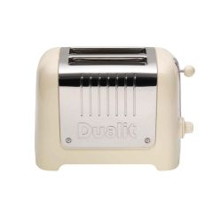 Dualit 26202 Lite 2 Slice Toaster In Cream Gloss