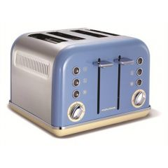 Morphy Richards 242007 Accents 4 Slice Toaster In Cornflower Blue