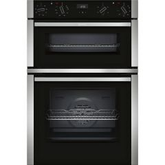 Neff U1ACE2HN0B Built-in Double Oven in Stainless Steel Trim