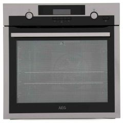 AEG BPS551220M Steam Bake Single Oven with Pyrolytic Cleaning