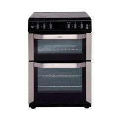 Belling FSDF60DOW Double Oven Dual Fuel Cooker with Lid