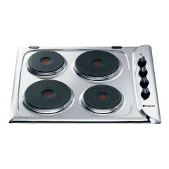 Hotpoint E604x 4 Ring Ceramic Hob in Stainless Steel