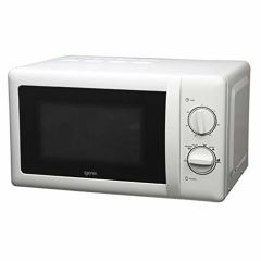 Igenix IG2083 20 Litre 800W Manual Microwave with Stainless Cavity in White