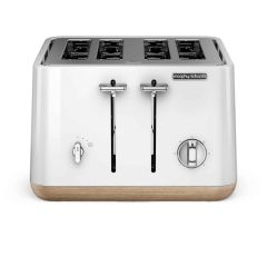 Morphy Richards 240005 Aspect 4 Slice Toaster with Wood Effect Trim