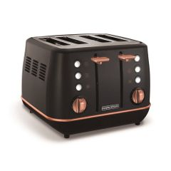 Morphy Richards 240114 Evoke 4 Slice Toaster In Black/Rose Gold