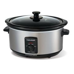 Morphy Richards 48709 3.5L Oval Slow Cooker in Stainless Steel