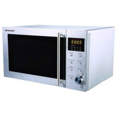 Sharp R28STM 23L 800W Solo Microwave in Stainless Steel