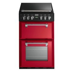 Stoves 550DFW Richmond 55cm Dual Fuel Cooker in Jalapeno Red